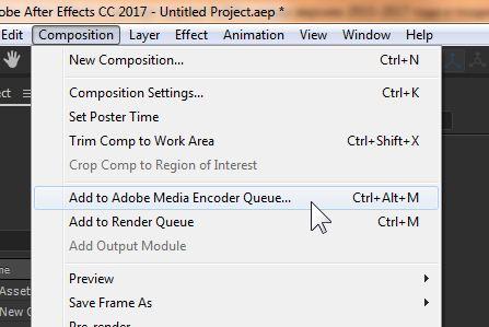Экспорт формата MP4 (H 264) из After Effects CC новых версий