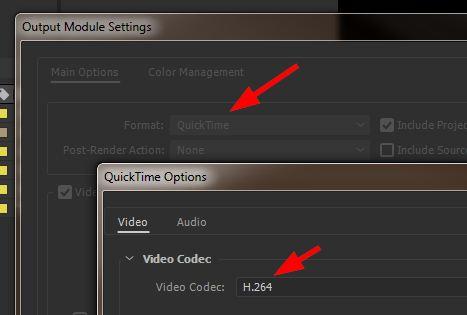 Экспорт формата MP4 (H 264) из After Effects CC новых версий 2015